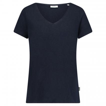 T-Shirt mit V-Ausschnitt  blau (834 Scandinavian blu) | XL