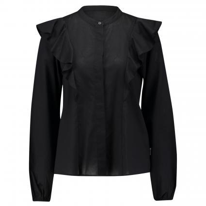 Bluse mit Volantdetails schwarz (990 black) | XS