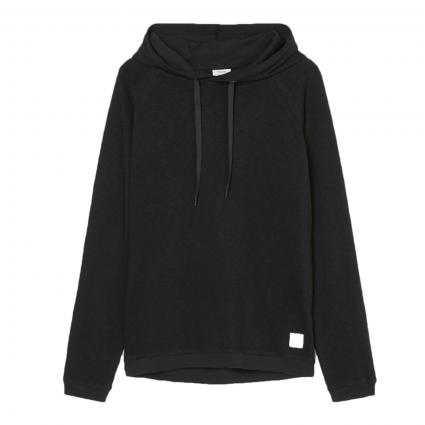 Hoodie aus Baumwolle schwarz (990 black) | XL