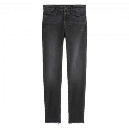 Slim-Fit Jeans in Used-Optik grau (Q03 multi/mid grey) | 25 | 32
