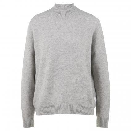 Pullover mit Stehkragen grau (903 stone melange) | XL