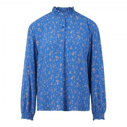 Bluse mit Rüschen-Details und All-Over Kornblumen Druck blau (S40 multi/cornflower)   S