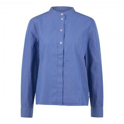 Bluse mit Streifenmuster blau (T19 multi/cornflower) | L