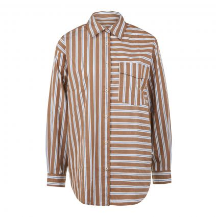 Bluse mit Streifenmuster braun (S43 multi/milky coff) | L