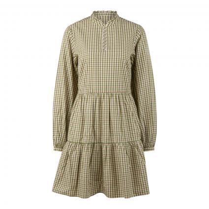 Kleid mit Rüschen-Details  oliv (S44 multi/fresh herb) | L