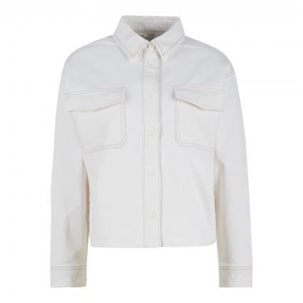 Bluse mit Knopfleiste  ecru (P23 multi/off-white)   S