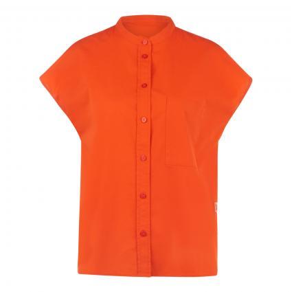 Ärmellose Bluse mit Stehkragen  rot (302 FIRE RED) | XL