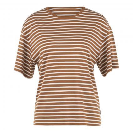 T-Shirt mit Streifenmuster  braun (C07 multi/brown ochr) | M