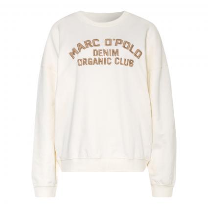 Sweatshirt mit Logo-Stickerei beige (126 pistachio shell)   L