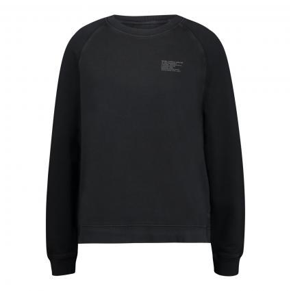 Sweatshirt mit Logo Druck schwarz (990 black) | S