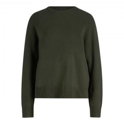 Pullover mit Alpaka oliv (468 olivia gray) | XL