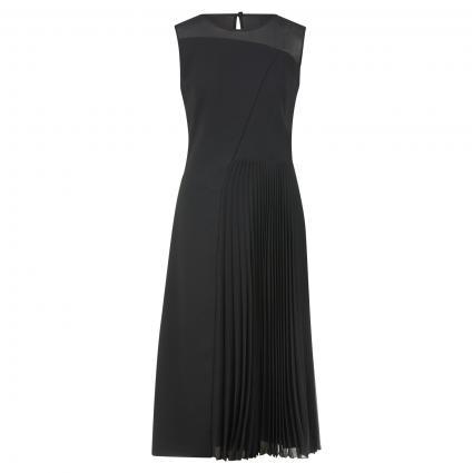 Kleid 'Dionira' mit plissiertem Detail schwarz (001 Black) | 40
