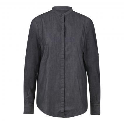 Bluse mit Stehkragen schwarz (001 Black) | 38