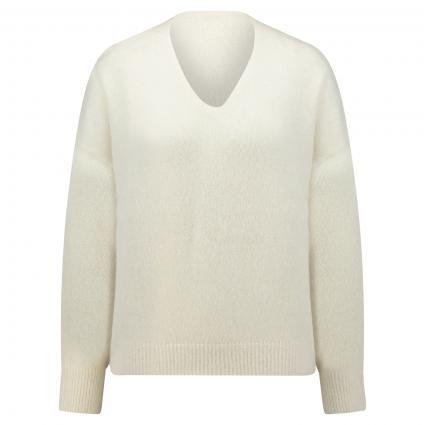 Pullover 'Fillallon' aus softer Wollmischung weiss (118 Open White)   M