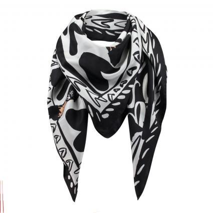 Seidentuch mit Muster schwarz (001 Black) | 0