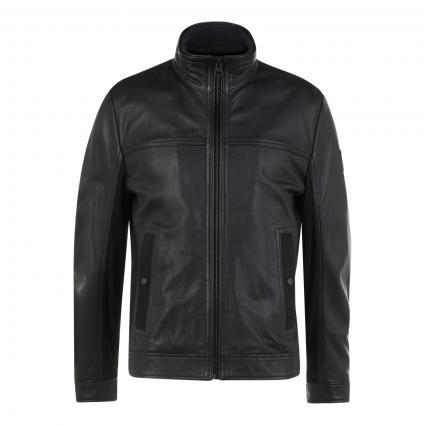 Lederjacke 'Joles' im Biker-Style schwarz (001 Black) | 50