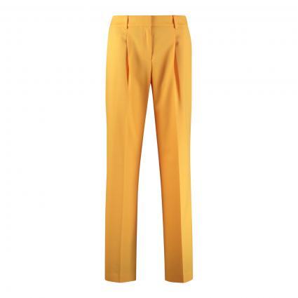 Weite Hose 'Hamone' mit Bundaflten gelb (733 Bright Yellow)   40