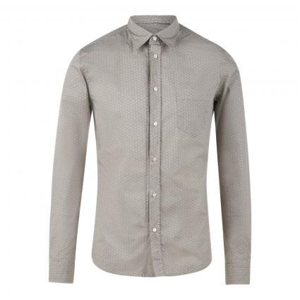 Slim-Fit Hemd 'Marvyn' mit All-Over Muster beige (262 Medium Beige) | XXL