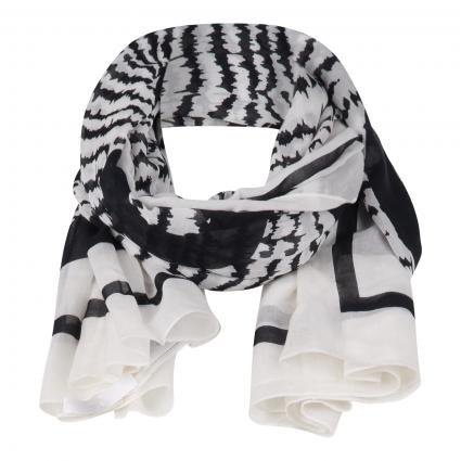Schal mit Muster schwarz (001 Black)   0