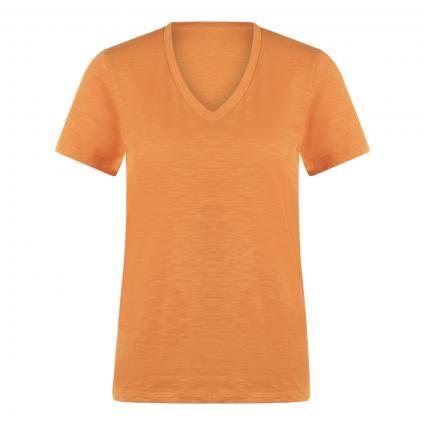 T-Shirt mit V-Ausschitt gelb (755 Open Yellow) | M