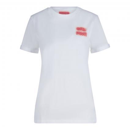 T-Shirt 'Dibiusa' mit Statement-Print weiss (100 White) | S