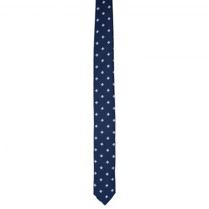 Krawatte mit All-Over Muster  marine (402 Dark Blue) | 0