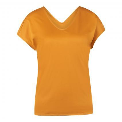 T-Shirt 'Enatura' mit V-Ausschnitt gelb (755 Open Yellow) | M