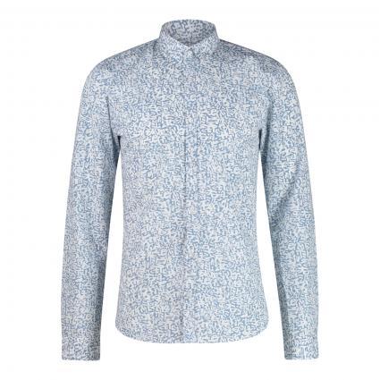 Hemd 'Ero3-W' mit All-Over Muster  blau (428 Medium Blue) | XL