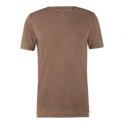 T-Shirt mit Rundhalsausschnitt  taupe (250 Beige/Khaki) | S