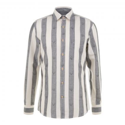 Regular-Fit Hemd 'Relegant' mit Streifenmuster grau (034 Medium Grey) | S