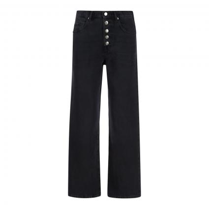Highwaist Jeans 'Modern Barrel' anthrazit (018 Charcoal) | 29