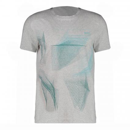 T-Shirt mit frontalem Print  silber (057 Light/Pastel Gre)   S