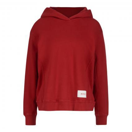 Hoodie 'Esqua' mit Logodruck rot (618 Medium Red) | S
