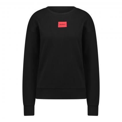 Sweatshirt mit Aufdruck schwarz (001 Black) | XS