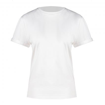 Unifarbenes T-Shirt 'Elinea' weiss (100 White)   M