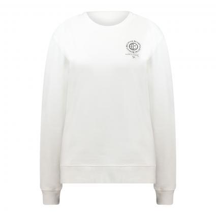 Sweatshirt 'The Earth' mit platziertem Druck ecru (102 Natural) | L
