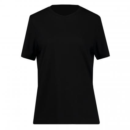 T-Shirt mit Rundhalsausschnitt  schwarz (001 Black)   XL