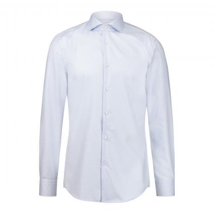 Slim-Fit Hemd 'Hank' mit Strukturmuster blau (450 Light/Pastel Blu) | 39
