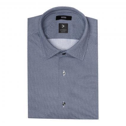 Slim-Fit Jerseyhemd 'Hank' blau (422 Medium Blue)   38