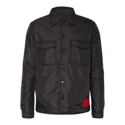 Wattiertes Overshirt 'Enalu' schwarz (001 Black) | L