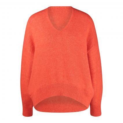 Pullover 'Fondiana' mit Alpaka orange (821 Bright Orange) | XL