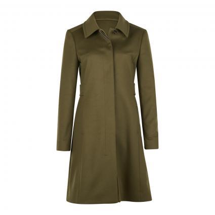 Mantel mit verdeckter Knopfleiste grün (303 Dark Green) | 42