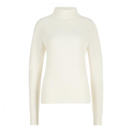 Rollkragenpullover aus Cashmere weiss (118 Open White) | XS