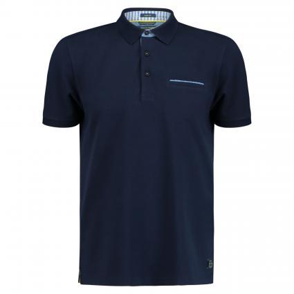 Poloshirt mit Brusttasche marine (3050 NAVY)   S