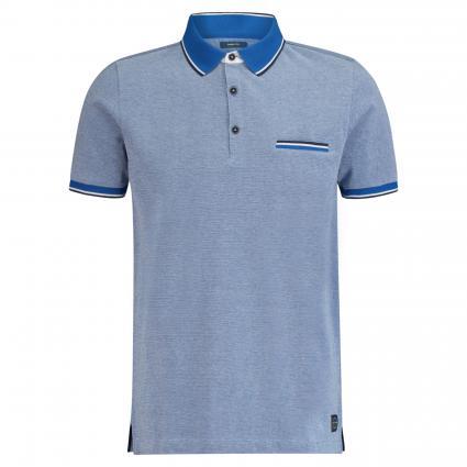 Poloshirt mit Musterung  blau (3210 WAVE) | XL
