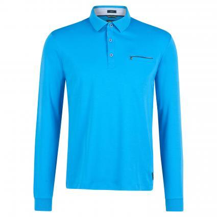 Langärmeliges Poloshirt blau (3760 DIVING) | M