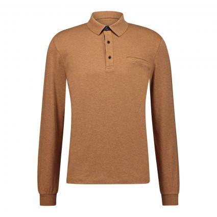 Poloshirt mit Langarm cognac (7560 COGNAC)   XXXL