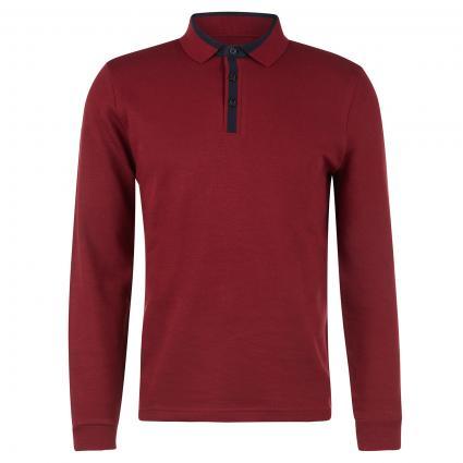 Langarm Polo bordeaux (5205 RUBY WINE) | S