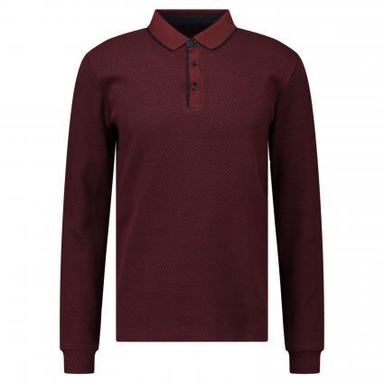 Poloshirt mit Langarm bordeaux (5200 OXBLOOD) | S