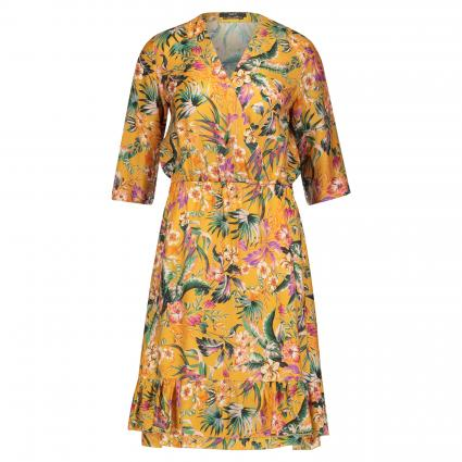Kleid mit floraler Musterung gold (0246 dark yellow kha) | 38